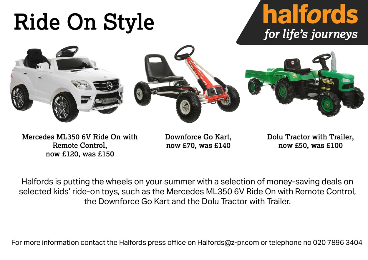 Ride On Deals Halfords Group Plc